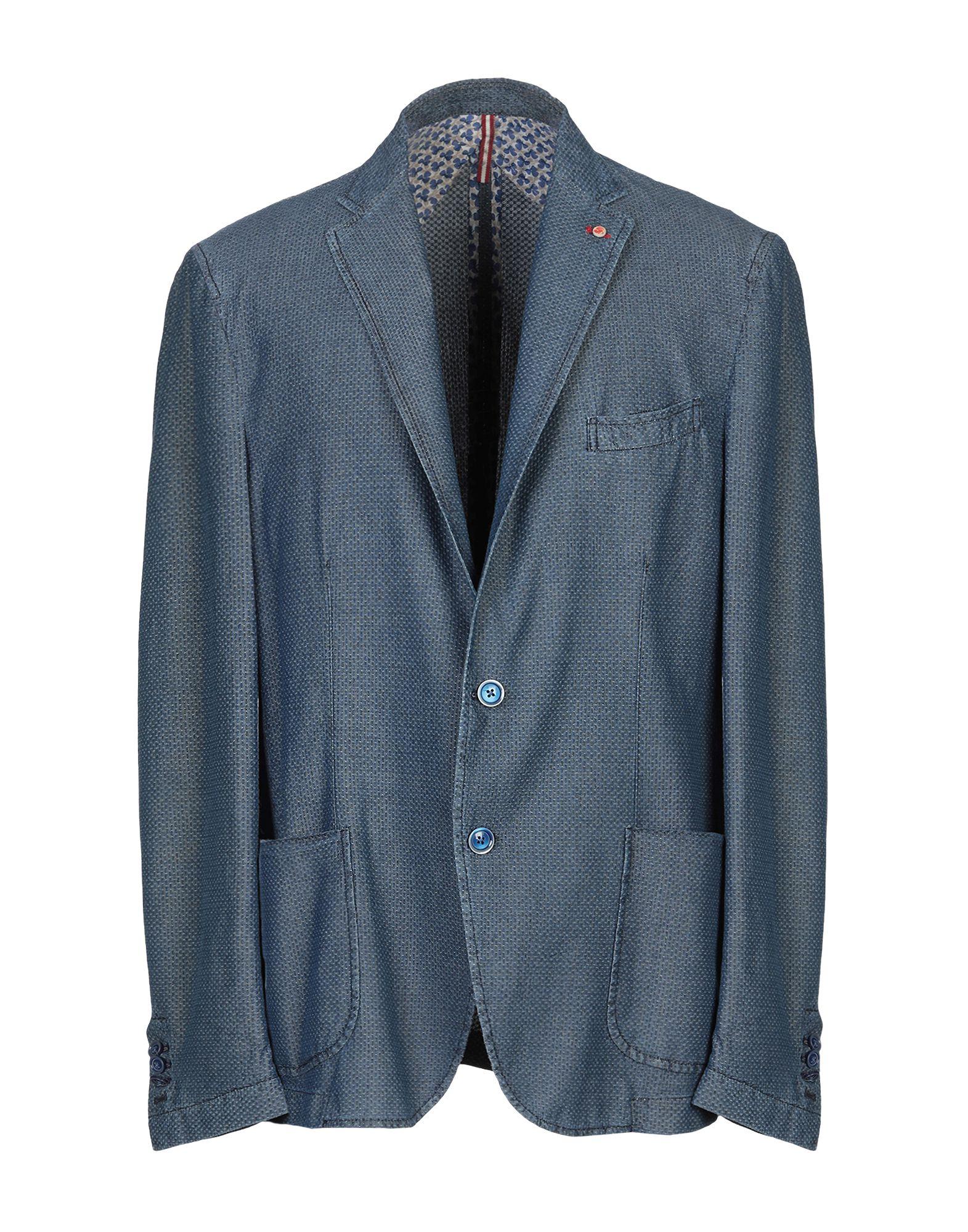 《送料無料》JERRY KEY メンズ テーラードジャケット ブルー 50 コットン 100%