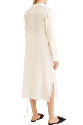 MARNI Layered crepe midi dress