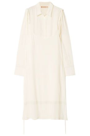 MARNI Crepe de chine midi shirt dress