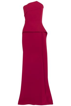 f3ed79f9514 ROLAND MOURET Addover strapless stretch-crepe peplum gown