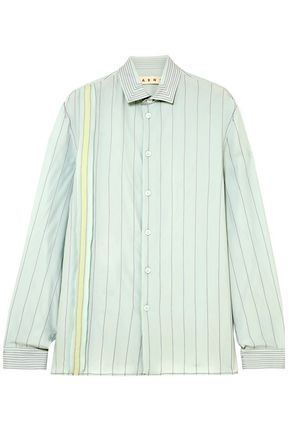 MARNI Striped crepe de chine shirt