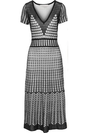 CAROLINA HERRERA Crochet-knit midi dress