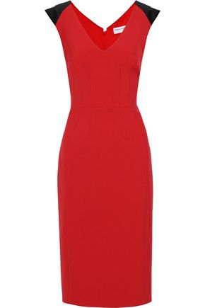 AMANDA WAKELEY Satin-trimmed cady dress