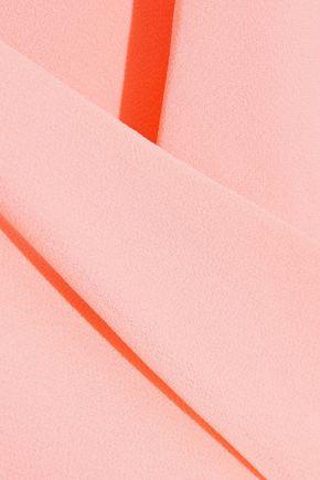 HAUTE HIPPIE Wrap-effect asymmetric chiffon dress