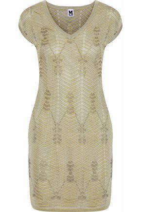 M MISSONI Metallic crochet-knit mini dress