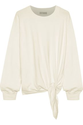 VINCE. Tie-front cotton sweater