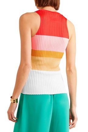 EMILIO PUCCI Color-block ribbed-knit tank