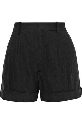 ALICE + OLIVIA JEANS Linen-blend shorts