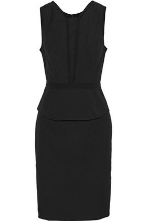 NARCISO RODRIGUEZ Wool-poplin peplum dress