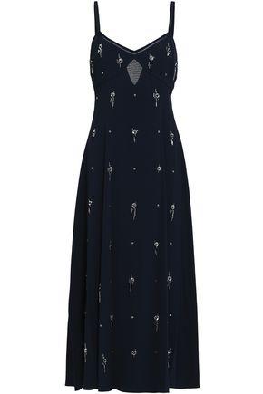 DEREK LAM 10 CROSBY Cutout silk-georgette midi dress