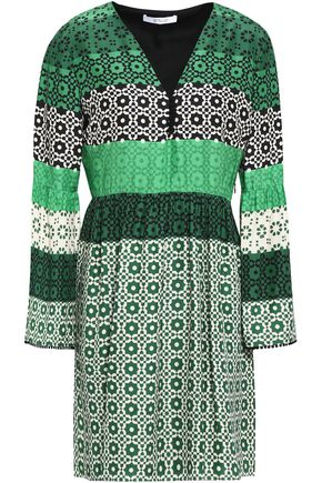 DEREK LAM 10 CROSBY Printed silk mini dress
