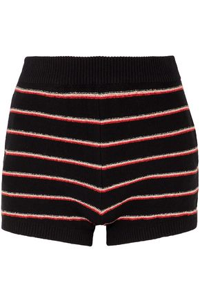 SONIA RYKIEL Striped cotton-blend terry shorts