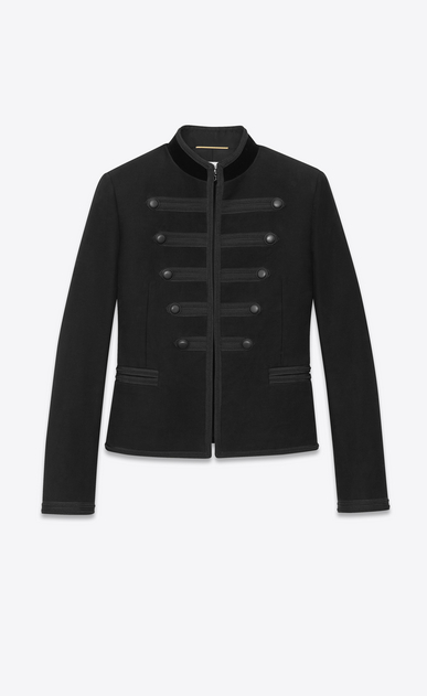Black officer jacket with passementerie braiding