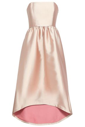 CO Strapless duchesse-satin gown