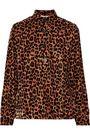 ANTIK BATIK Gart satin-trimmed leopard-print velvet shirt