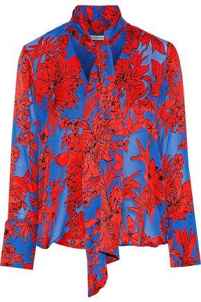 ALICE + OLIVIA Gwenda floral-print fil coupé crepe de chine blouse