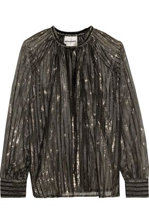 ANTIK BATIK Chai metallic striped tulle blouse