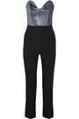 ROLAND MOURET Thira strapless Lurex and crepe jumpsuit |