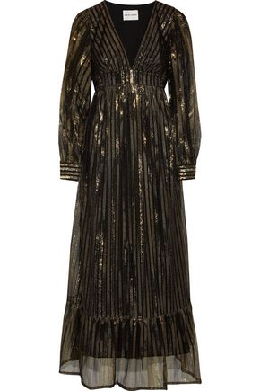 ANTIK BATIK Chai metallic striped tulle maxi dress