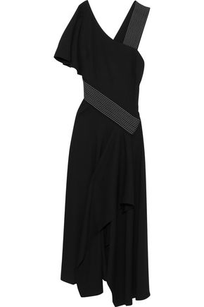 CAROLINA HERRERA Asymmetric crepe midi dress