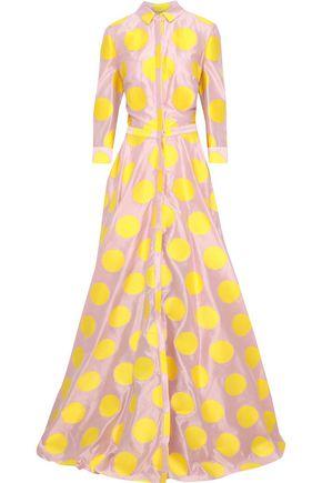 CAROLINA HERRERA Polka-dot silk-shantung gown