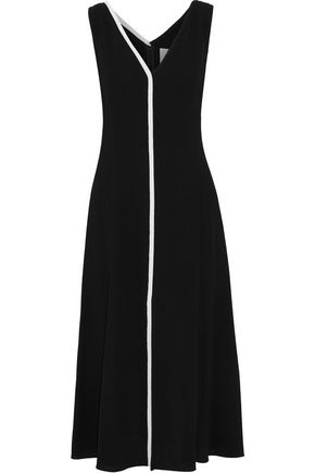 CAROLINA HERRERA Wool-crepe midi dress
