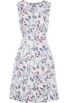 CAROLINA HERRERA Printed cotton and silk-blend dress