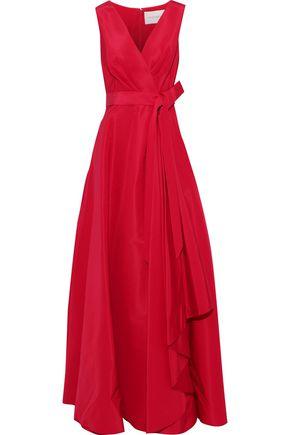CAROLINA HERRERA Bow-detailed silk-faille gown