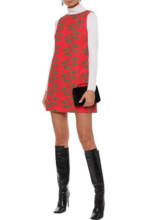ALICE + OLIVIA Clyde printed cotton mini dress