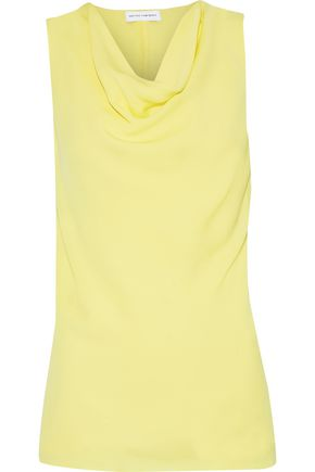NARCISO RODRIGUEZ Draped silk-crepe top