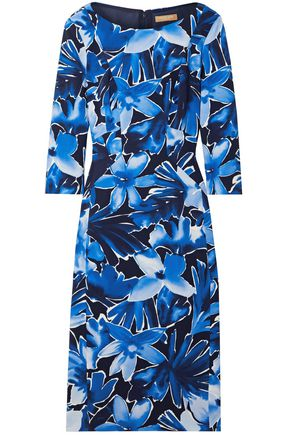 MICHAEL KORS COLLECTION Floral-print stretch-cady dress