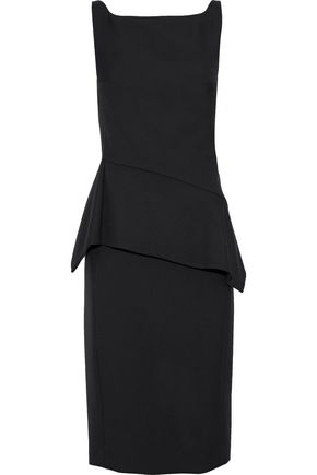 NARCISO RODRIGUEZ Wool-twill peplum dress