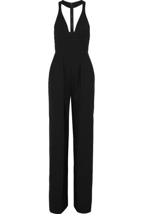 NARCISO RODRIGUEZ Pleated wool-twill jumpsuit