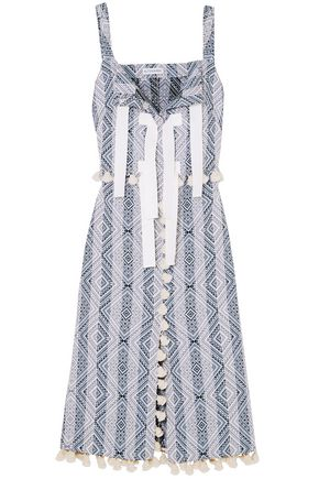ALTUZARRA Villette tasseled cotton-blend jacquard midi dress