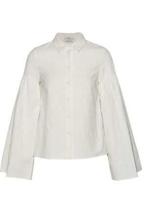 CO Fluted linen and cotton-blend shirt