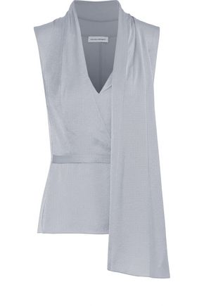 NARCISO RODRIGUEZ Draped silk-twill top