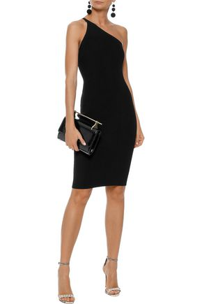 NARCISO RODRIGUEZ One-shoulder ribbed-knit dress