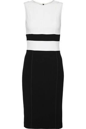 NARCISO RODRIGUEZ Two-tone wool-blend dress