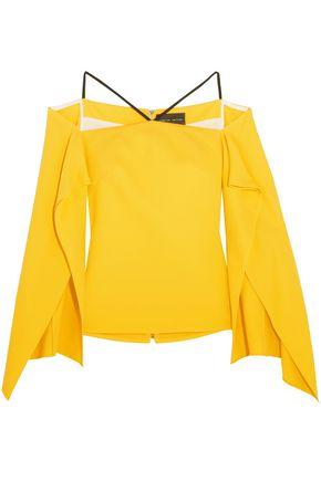 ROLAND MOURET Frickley off-the-shoulder stretch-crepe blouse