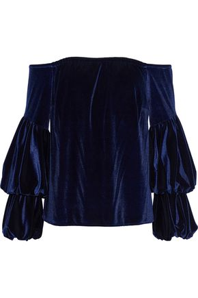 PETERSYN Lily off-the-shoulder velvet top