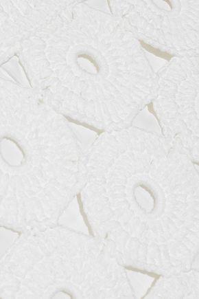 ALICE + OLIVIA Reva crocheted cotton-blend top