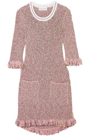 SONIA RYKIEL Sequin-embellished cotton-blend tweed mini dress
