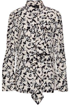 PROENZA SCHOULER Ruffled floral-print silk crepe de chine blouse