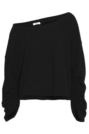 Ember One Shoulder French Cotton Terry Sweatshirt by A.L.C.