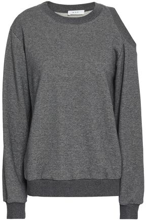 A.L.C. Cutout French cotton-terry sweatshirt