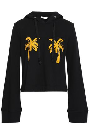 A.L.C. Valerie embroidered French cotton-terry hoodie