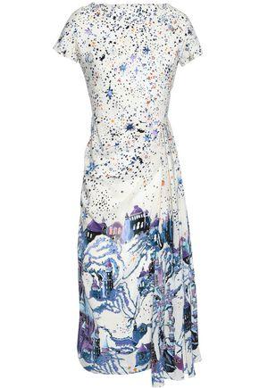 ZUHAIR MURAD Crystal-embellished silk midi dress