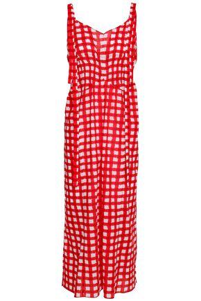 MARNI Gingham cotton-mousseline midi dress