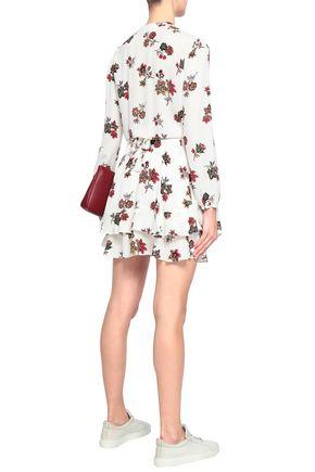 A.L.C. Rori paneled floral-print silk crepe de chine mini dress
