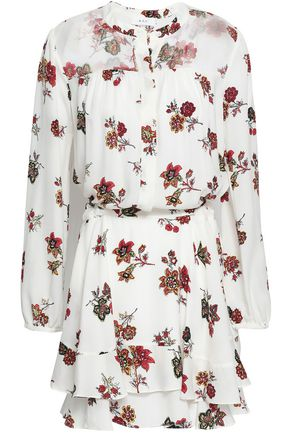 A.L.C. Rori paneled floral-print silk crepe de chine mini dress